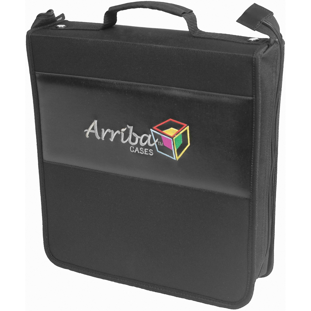 Arriba Cases 200 Slot CD Carrying Case Al 200 Soft Case for CDs and DVDs