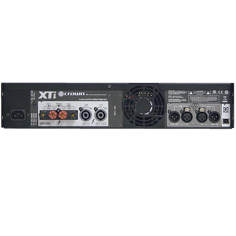 mint crown audio xti 4002 power amplifier with digital signal processing xti 2 ebay. Black Bedroom Furniture Sets. Home Design Ideas