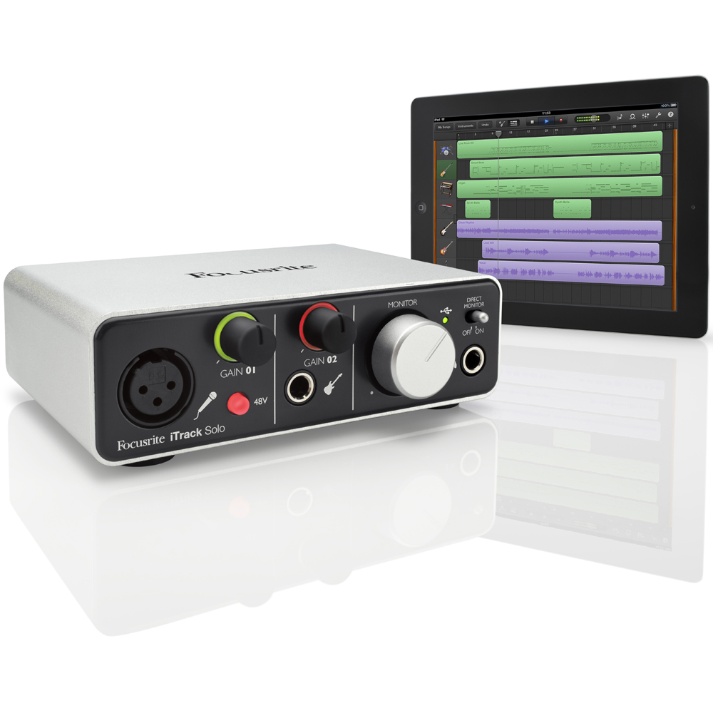 focusrite itrack solo usb recording interface for tablet pc mac or ios devices. Black Bedroom Furniture Sets. Home Design Ideas