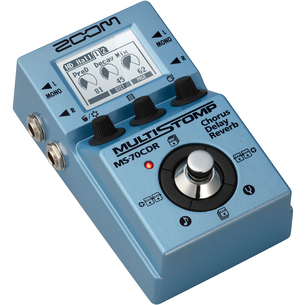 zoom ms 70cdr multistomp chorus delay reverb guitar effects pedal ms70 ms70cdr ebay. Black Bedroom Furniture Sets. Home Design Ideas