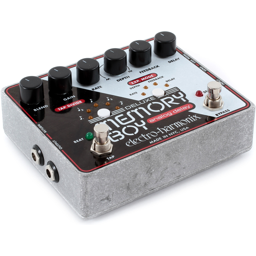 electro harmonix deluxe memory boy analog delay with tap tempo guitar fx pedal. Black Bedroom Furniture Sets. Home Design Ideas